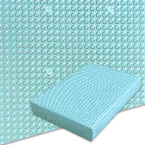 包装紙_コート紙_469模様ブルー