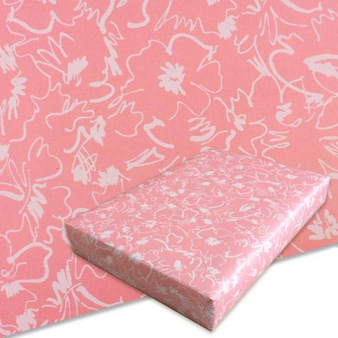 包装紙_晒クラフト_5502花ピンク
