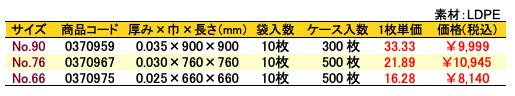 価格表 ポリ風呂敷 金寿