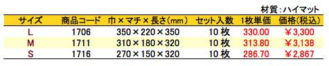 パールバッグ アミー シーブルー 価格表(小ロット)