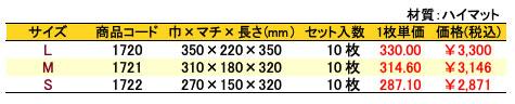 パールバッグ アミー ホワイト 価格表(小ロット)