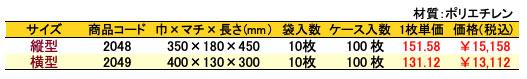 アソートバッグ桜柄 価格表(ケース単位)