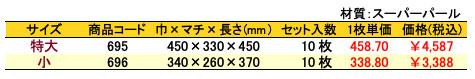 パールバッグ エレガントピンク 価格表(小ロット)