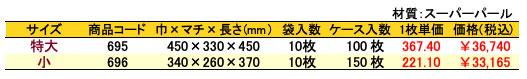 パールバッグ エレガントピンク 価格表(ケース単位)