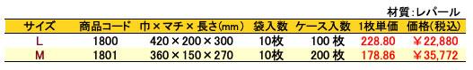 パールバッグ ツートンR・ゴールド 価格表(ケース単位)