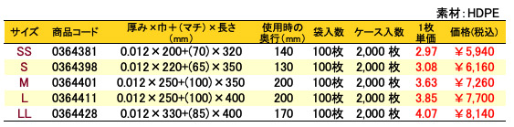 イージーバッグバイオ25ランチ乳白 価格表