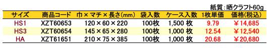 ハイバッグ 紫花 価格表(ケース販売)