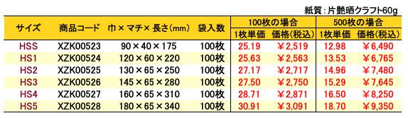 ハイバッグ クリスタルピンク 価格表(小ロット販売)