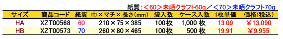 ハイバッグ 角底袋 コアラ 価格表(ケース販売)