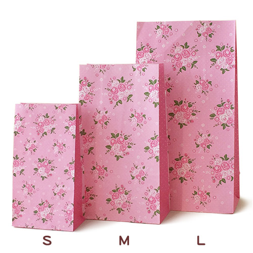 紙袋 角底袋 フレンチフラワー