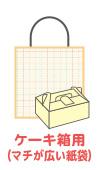 手提げ紙袋4ケーキ箱用