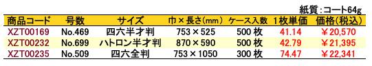 包装紙 模様ブルー No.469 価格表