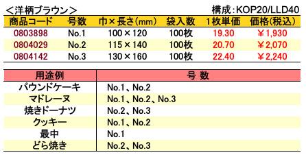 カマス袋 GT 洋柄ブラウン 価格表