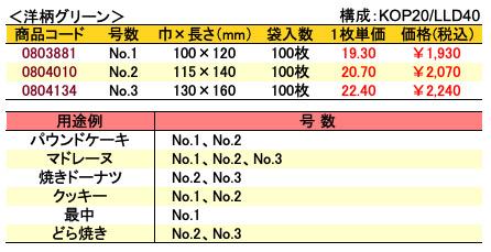 カマス袋 GT 洋柄グリーン 価格表