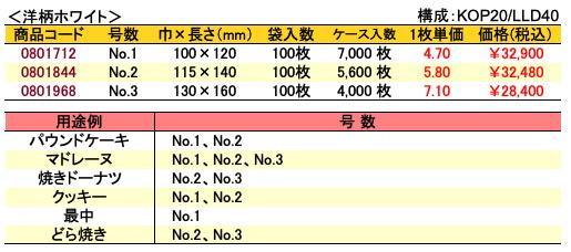 カマス袋 GT 洋柄ホワイト 価格表