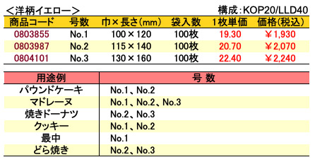 カマス袋 GT 洋柄イエロー 価格表
