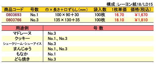 カマス口ずらし袋 KR 無地 価格表(小ロット単位)