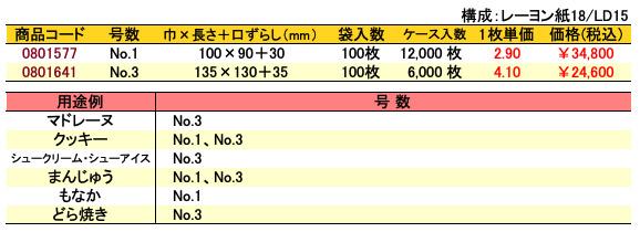 カマス口ずらし袋 KR 無地 価格表(ケース単位)