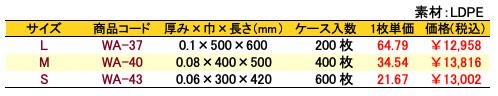 サンクスバッグ底マチなし ブラック 価格表