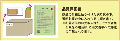 サージカルマスクの品質保証書