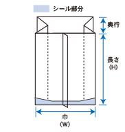 アルミガゼット袋_Aタイプ規格図