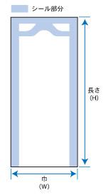ナイロンポリ新巻鮭規格図