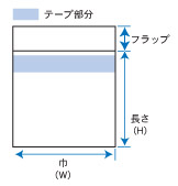 オーピーパックテープ付CD規格図