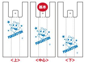 レジ袋の印刷位置