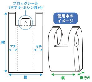セミオーダーオリジナルレジ袋 規格図