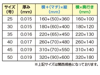 セミオーダーオリジナルレジ袋 規格(乳白・半透明)