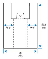 レジ袋_弁当用規格図