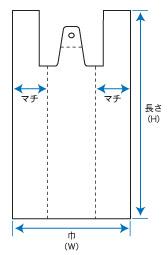 レジ袋_定番用規格図