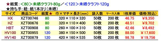 手提袋_エメラルド 価格表(ケース販売)
