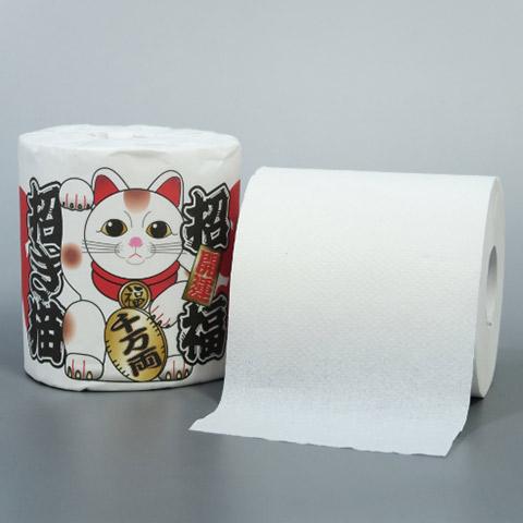 トイレットペーパー 招福招き猫